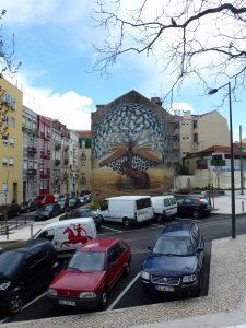"""Hausfassade """"Buch"""" Lissabon"""