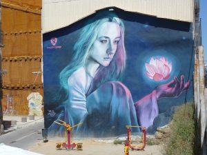 Großes Mural mitten in LLeida in der sonst recht verschlafenen Stadt in spanischen Katalonien.
