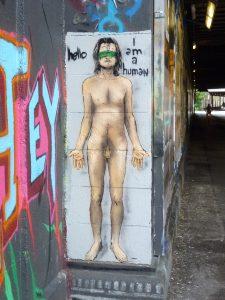 Hello I am human | SERK | an der Tumblingerstraße | Stencil - in Originalgröße