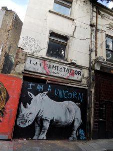 """Graffiti aus der englischen Hauptstadt London: """"I am a Unicorn"""""""