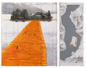 "Detail aus: Christo and Jeanne-Claude. ""The Floating Piers The Floating Piers, Project for Lake Iseo, Italy"" 