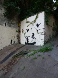 Stencil: Krähen auf Ölfass | von: By Day