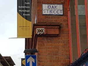 Space Invader in der Oak Street / Manchester