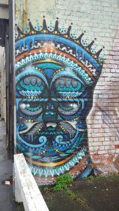 mural, Buntes Tribal irgendwo in Neuseeland