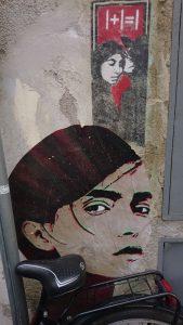 Stencil und PaperWork: I+I=I & das Mädchen mit dem strengen Blick | gefunden in Florenz