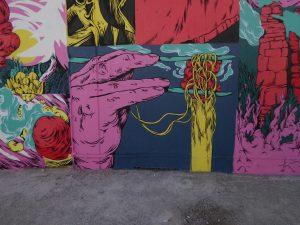 Graffiti als Event während der Stroke Art Fair 2018